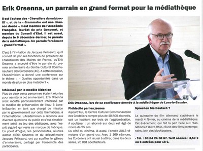 Mediatheque1an LonsMag 557 janvier2014 400