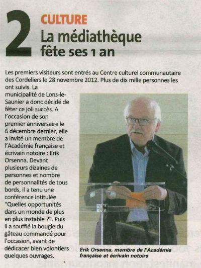 Mediatheque1an PaysdeLons79 Janvier2014 400